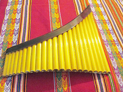 Professional Yzarra   Pan Flute 22 Pipes-See Video  -From Peru Item In Usa