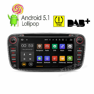 """Quad Core Android 5.1 7"""" Car CD DVD Player GPS 3G Radio For Ford Focus Transit"""