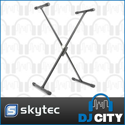 Skytec KX209 Easy Lock Single Braced X Style Music Piano Keyboard Stand Adjus...