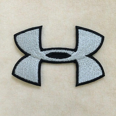83113f3a2 UNDER ARMOUR SPORT Logo Embroidery Iron On Patch Badge #Gray - $2.39 ...