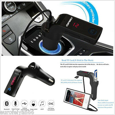 Mini Black Bluetooth G7 Car FM Music Player USB Charger Mobile Phone Handsfree