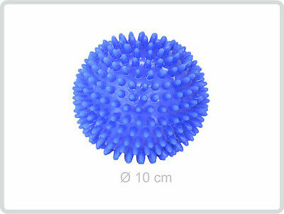 Igelball ø 10 cm, blau - Massageball Noppenball Massage-Ball Stachelball