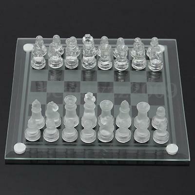 Megnetic Elegant Frosted Glass Chess With Board 2-In-1 Game Set 25x25/20x20cm