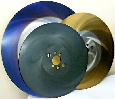 HSS Circular Saw Blades 300 x 2.5 x 32/40 Steam Treated,TiN & Cobalt Blue