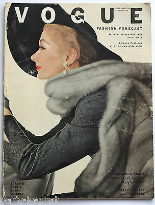 1951 New York 50s vintage fashion magazine Irving Penn Lisa Fonssagrives