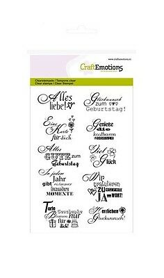 CraftEmotions clearstamps A6 - Text Glückwunsch 011154