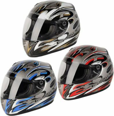 G-Mac Gmac Scirocco Graphic Full Face Motorbike Motorcycle Scooter Crash Helmet