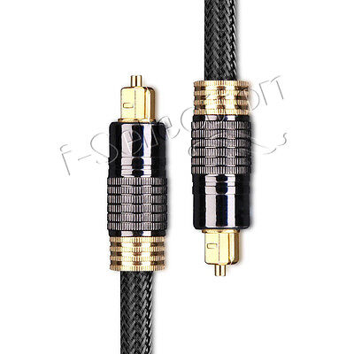 50cm Ultra Premium Toslink Optical Cable Gold Plated 5.1 7.1 7.2 Digital Audio