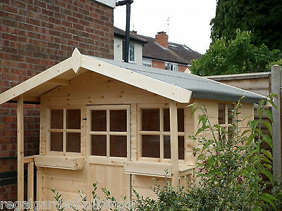 Wooden Wendy House Playhouse with Verandah
