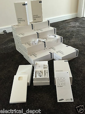 Empty Retail Packaging Box For Samsung Galaxy** S6 Black 32Gb** & Accessories Uk