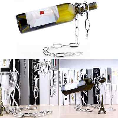 Floating Magic Chain Wine Bottle Holder Alcohol Champagne Rack Illusion Kitchen
