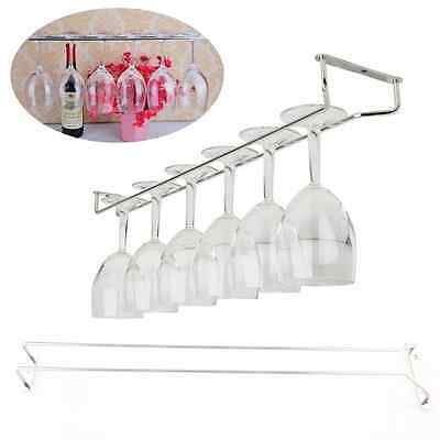 "55cm/21"" Wine Glass Rack Under Cabinet Stemware Holder Hanger Shelf Home Bar"