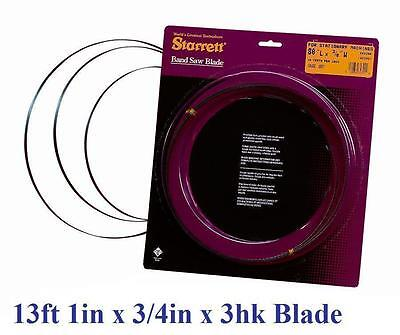 "157"" INCH (13' 1"") x 3/4""  x 3T STARRETT BAND SAW BLADE RESAWING HARDWOOD CUT!"