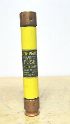 BUSSMANN * LPS-RK-30SP * Low Peak Time Delay Fuse * 600VAC/300VDC  *NEW*