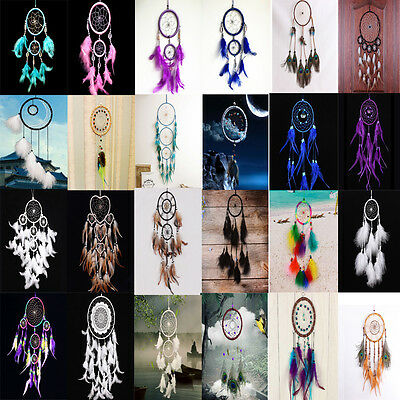 Handmade Dream Catcher with Feather Wall Hanging Decoration Ornament Craft Gift
