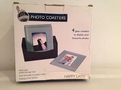 New & Boxed New York Gift Co 4 Photo Coaster Set Makes A Great Gift Free Postage