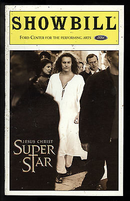 Jesus Christ Superstar Ford Center Theatre Playbill 2000 NYC Glenn Carter VG