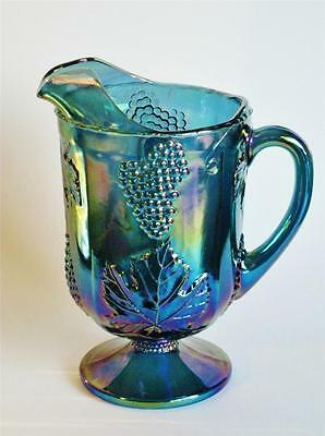 WOW Impressive LARGE Imperial Harvest jug / pitcher carnival glass.