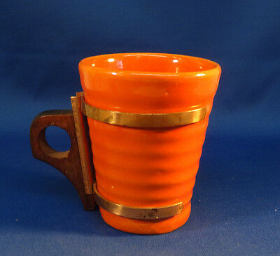 "Bauer Ring Tumbler 3 1/2"" Orange with Zarf Handle"