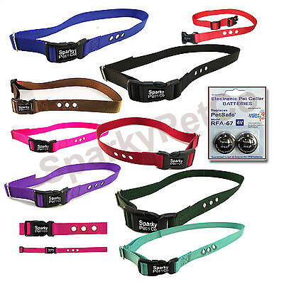 """High Tech 2 RFA 67D Batteries + PIF-275 1"""" 3 hole  dog fence Replacement Collar"""