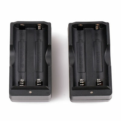 2X Dual Battery Smart Charger US Plug For 3.7v Rechargeable 18650 Li-ion Battery