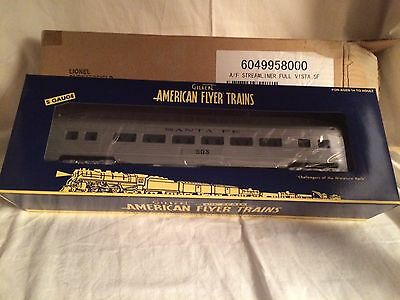 American Flyer by Lionel 49958 Santa Fe Streamline Full Vista Dome Car New/Boxed