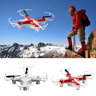 Mini Explorers RC Quadcopter 4CH 2.4GHz 6-Axis Gyro LED Drone 3D Flying Toys Lot