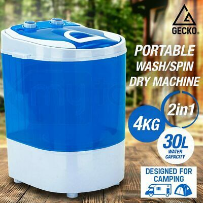4KG Mini Portable Washing Machine Top Load Spin Dry Camping Caravan Home 2 in 1