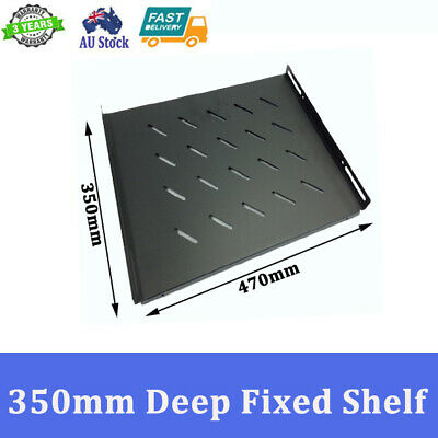 "Brand New 350mm Deep Fixed Shelf For 600mm 19 inch 19"" Server Cabinet"