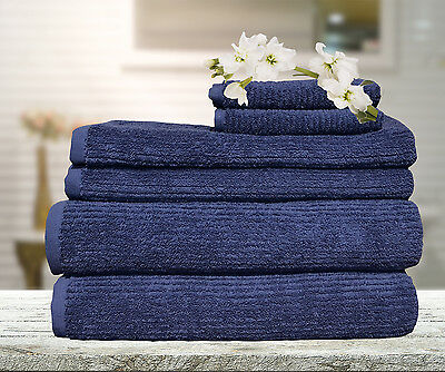 Egyptian Cotton Ribbon Bath Towel Set Bath Hand Towel Face Washer Mat Glove
