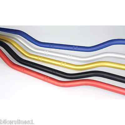 "Universal Low Unbraced Bar Street Road Handlebars 7/8"" Various Colours"