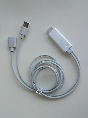 For iPhone/Android Phone To HDMI TV Digital AV Adapter Airplay USBCable