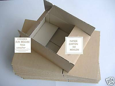 100 CARTONS EMBALLAGE SIMPLE CANNELURE  CAISSES 14 x 21 x 18 cm