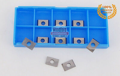7.6 x 12 x 1.5mm Reversible Knives Solid Carbide Replacement Tips 10pcs (1 box)