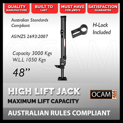 "OCAM High Lift Jack Farm 48"" inch Heavy Duty BLACK 4WD"