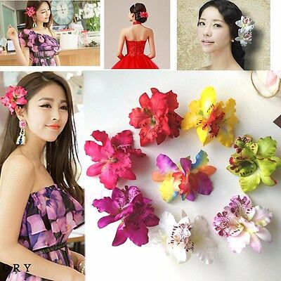 Colorful Bridal For Wedding Orchid Flower Hair Clip Barrette Women Accessories