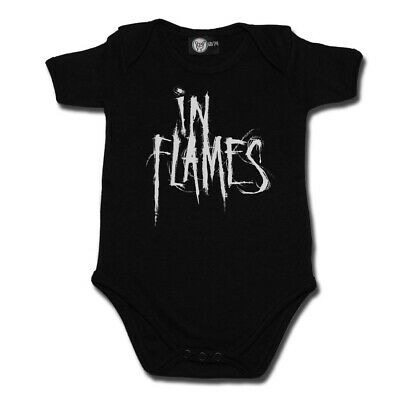 In Flames Logo Baby One Piece Bodysuit Infant Metal Kids Official Romper New