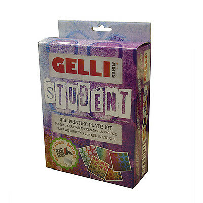 Gelli Arts Gell Printing Plate Student Kit Monoprinting without a press
