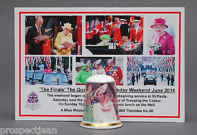 The Finale Queen's 90th Birthday June 2016 Ltd Ed + Cert China Thimble B/157