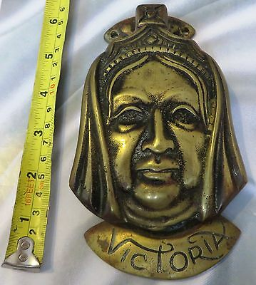 Vintage Belo Solid Brass Door Knocker Queen Victoria  - Free Post Mainland