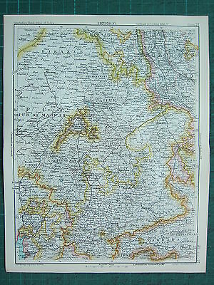 1893 India Empire Map ~ India Section Vi ~ Ajmere ~