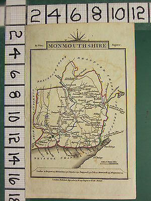 1806 Dated Georgian Map ~ Monmouthshire Monmouth Newport Pontypool Tredeagor