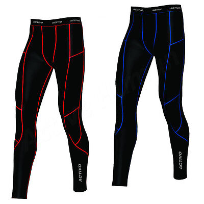 Activo Mens Compression Tights Base Layer Briefs Pants Running Gym Fitness