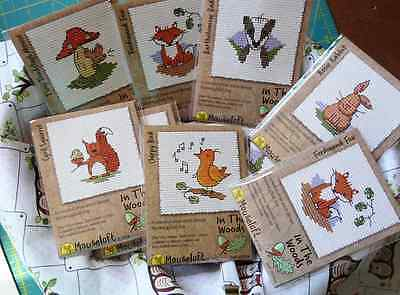 New Mouseloft In The Woods Stitchlet Counted Cross Stitch Kit Mini Pyo