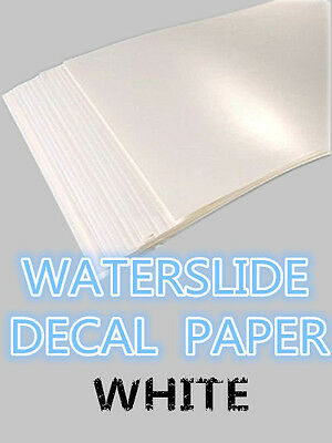 SZ02-B A4 Inkjet Water Slide Decal Paper pack of 20 white