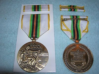 THE COLD WAR Medal, Ribbon & Certificate Army Navy USAF Marines ...