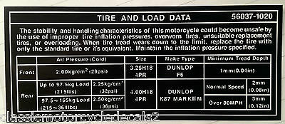 KAWASAKI Z1R Z1R 1000 Z1000D KZ1R ENGINE AND OIL FILTER CAUTION WARNING DECAL