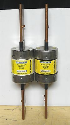 (2) - BUSSMANN * LPS-RK-400SP * Low Peak Time Delay Fuse * 600VAC/300VDC *NEW*