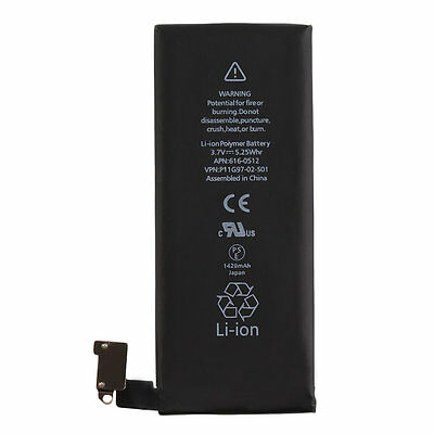 Black 1420mAh 3.7V Li-Ion Battery Internal Replacement for iPhone 4 Quality LO
