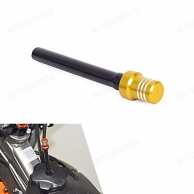 Gas Fuel Petrol Tank Cap Valve Vent Breather Hose For Dirt Bikes Motorcycle Gold